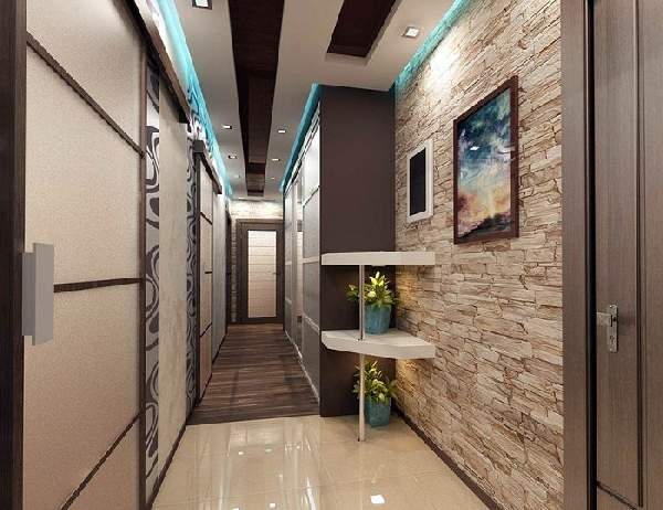 прихожая для узкого коридора дизайн фото, фото 15