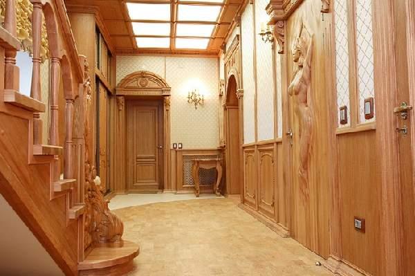 дверь входная деревянная со стеклом, фото 14