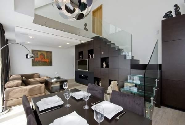 дизайн шкафа под лестницей, фото 33