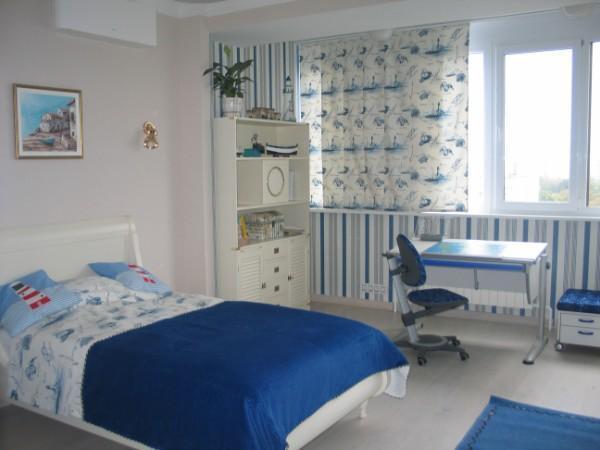 шторы в детскую комнату для мальчика короткие, фото 22