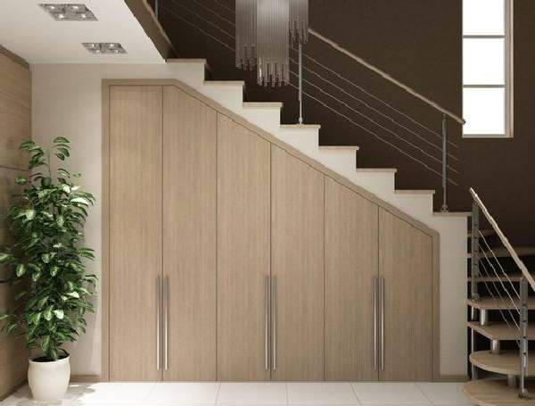 шкафы под лестницей фото, фото 11