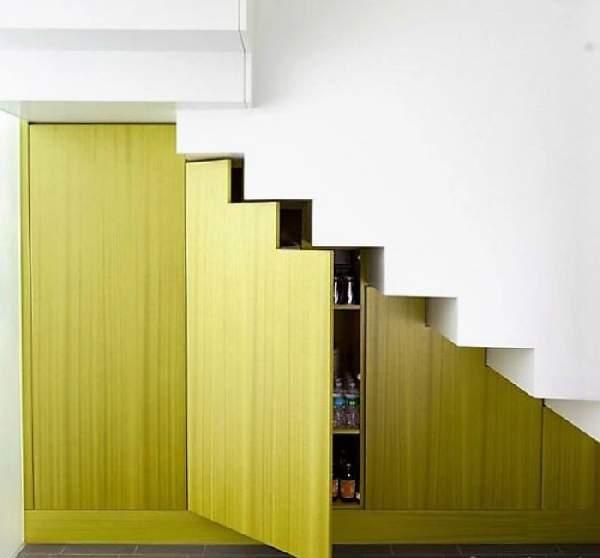 встроенные шкафы под лестницей фото, фото 12
