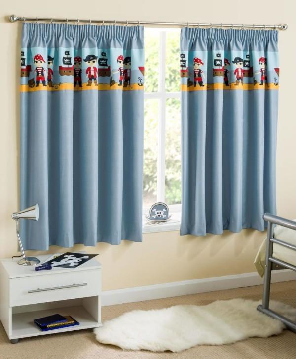 короткие шторы для детской комнаты мальчика, фото 25