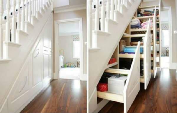 выдвижной шкаф под лестницей, фото 49