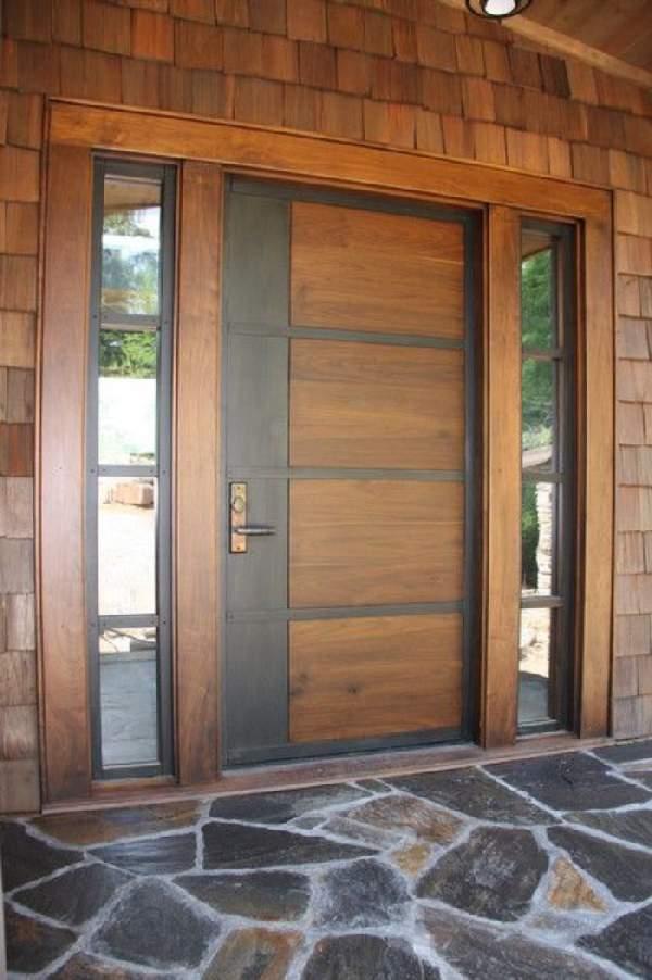 деревянные входные двери для частного дома, фото 10