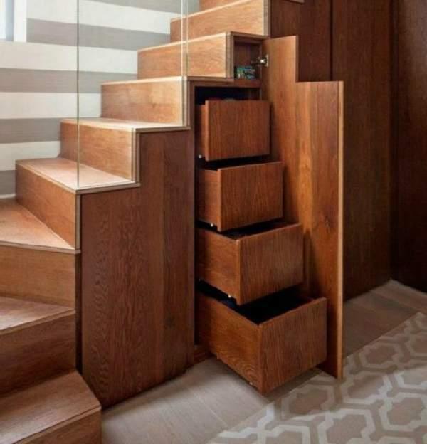 выдвижной шкаф под лестницей, фото 50