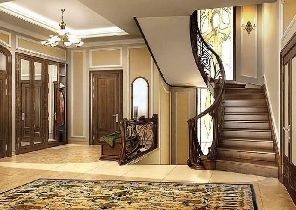прихожая в доме с лестницей дизайн фото, фото 35