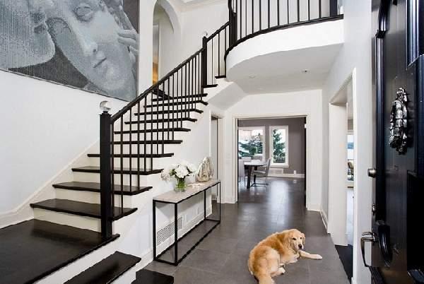 прихожая в доме с лестницей дизайн фото, фото 36