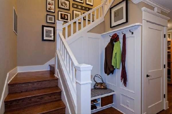 прихожая в доме с лестницей дизайн фото, фото 37