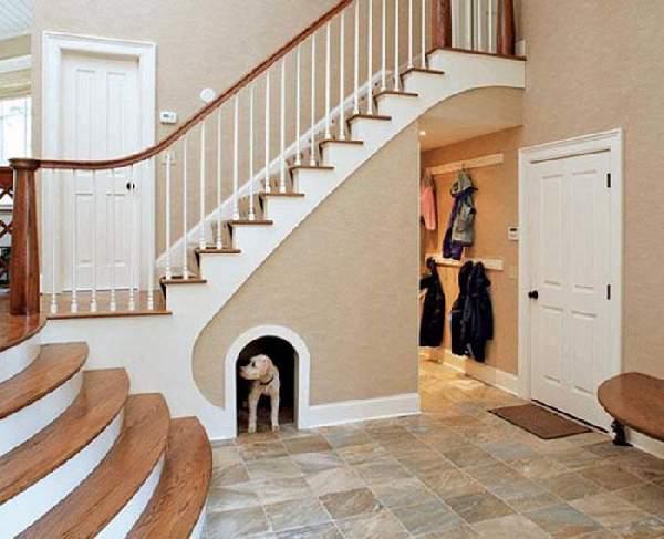 прихожая в доме с лестницей дизайн фото, фото 38