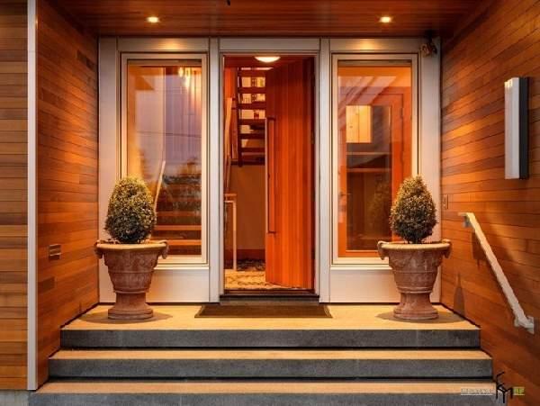 деревянные входные двери со стеклопакетом, фото 16