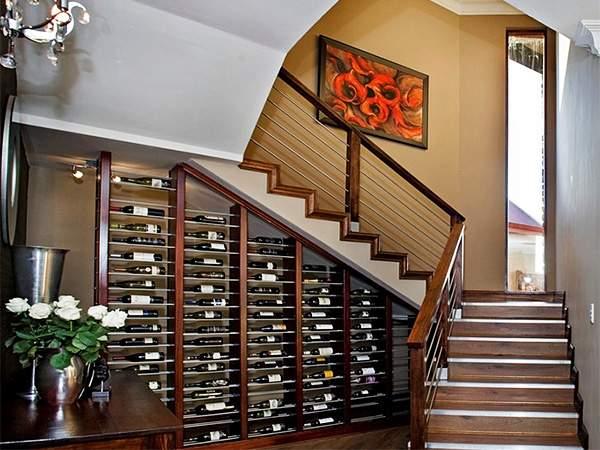 дизайн шкафа под лестницей, фото 27
