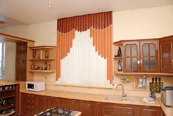 жалюзи на окна вертикальные тканевые на кухню, фото 16