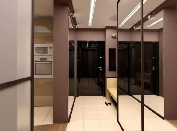 шкаф прихожая в узкий коридор, фото 21
