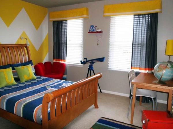 шторы в детскую комнату для мальчика короткие, фото 33