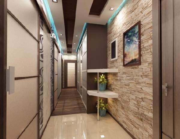 прихожая в узкий коридор со шкафом, фото 22