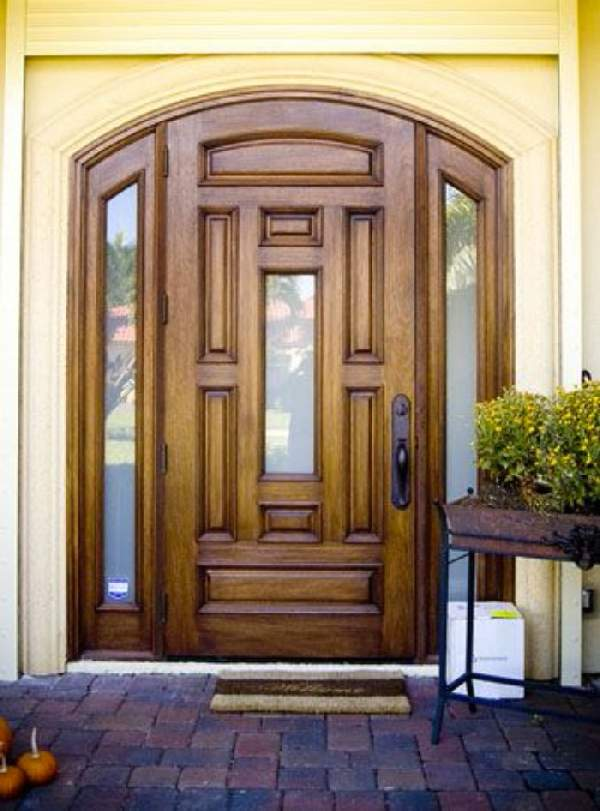 деревянные входные двери со стеклопакетом, фото 18