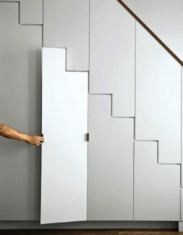 дизайн шкафа под лестницей, фото 39