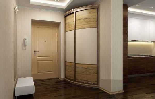 радиусный шкаф в коридор, фото 31