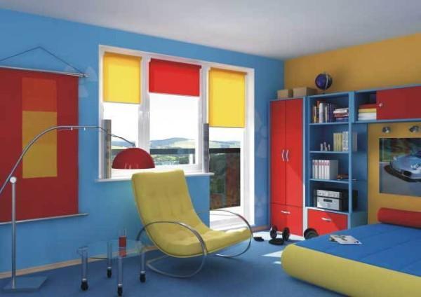 рулонные шторы в детскую комнату для мальчика, фото 41