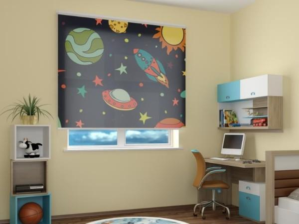 рулонные шторы в детскую комнату для мальчика, фото 42
