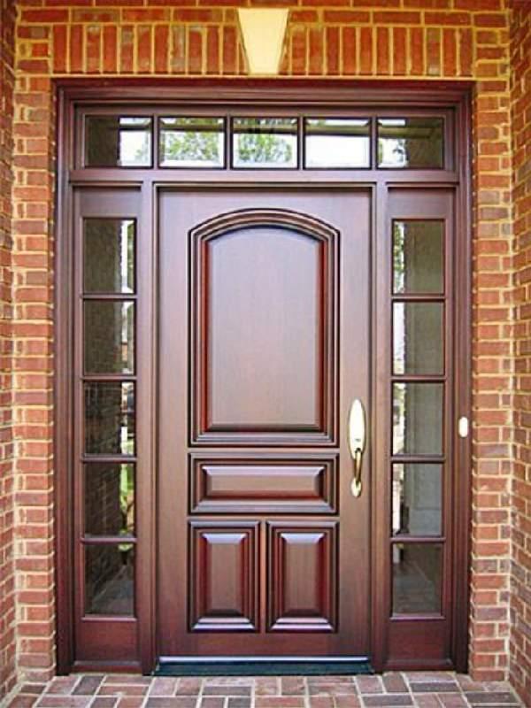 входные деревянные двери, фото 19