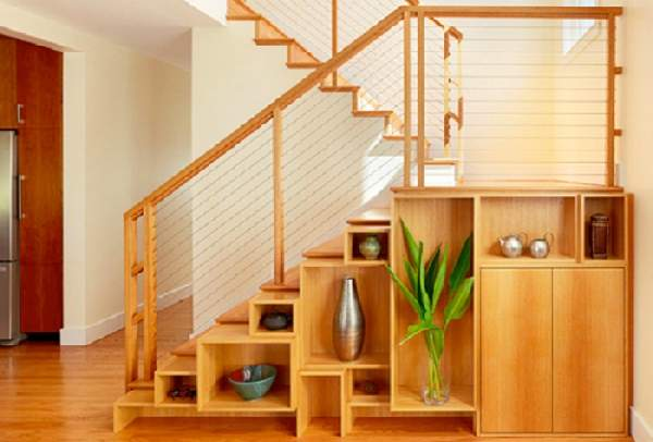 дизайн шкафа под лестницей, фото 40
