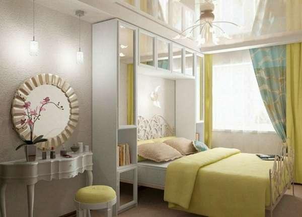 бюджетный интерьер спальни, фото 65