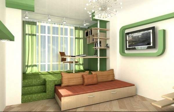 дизайн однокомнатной небольшой квартиры, фото 16