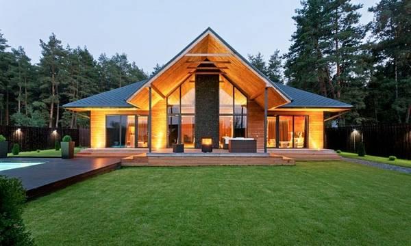красивые одноэтажные дома проекты фото, фото 95