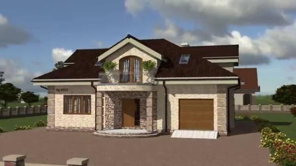 дизайн фасада одноэтажного дома, фото 36