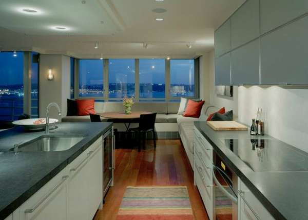 дизайн кухни гостиной в современном стиле, фото 10