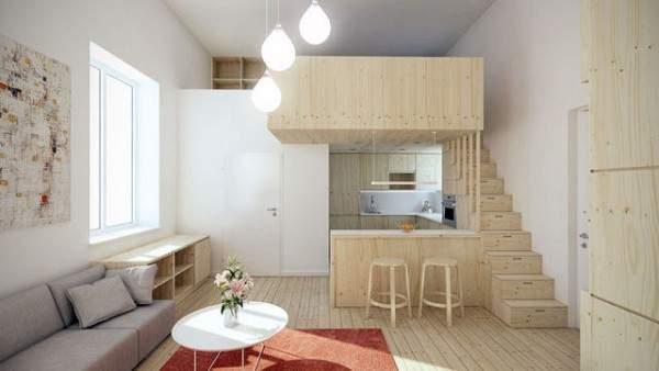 маленькая однокомнатная квартира дизайн интерьера, фото 27