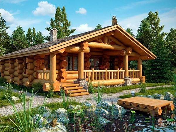 красивые одноэтажные дома с мансардой, фото 26