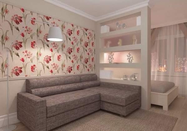 дизайн интерьера маленькой однокомнатной квартиры, фото 29