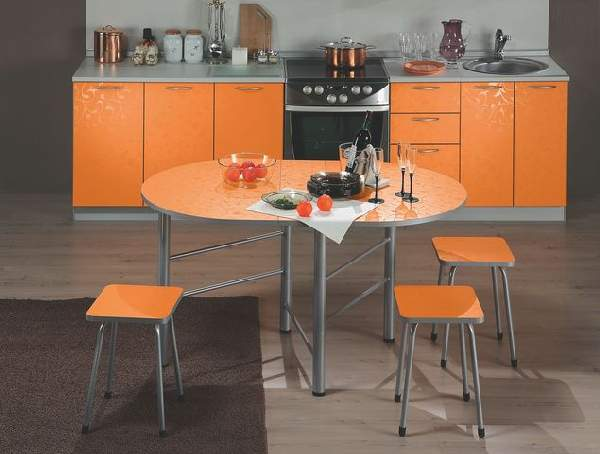 стол обеденный поворотный раскладной, фото 11