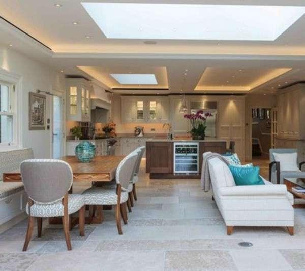 дизайн большой кухни гостиной, фото 14