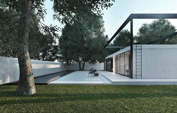 красивые фасады одноэтажных домов, фото 40