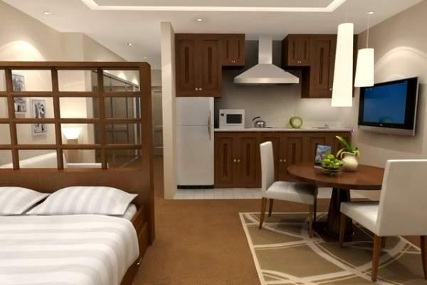 маленькая однокомнатная квартира дизайн интерьера, фото 31