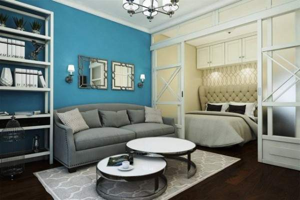 дизайн однокомнатной небольшой квартиры, фото 32