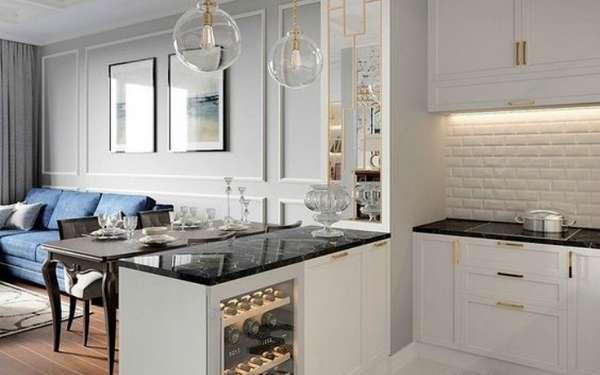 дизайн кухни и гостиной в одной комнате, фото 18