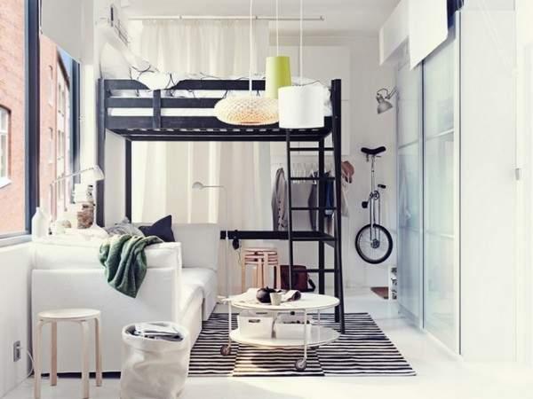 дизайн интерьера малогабаритной однокомнатной квартиры, фото 34