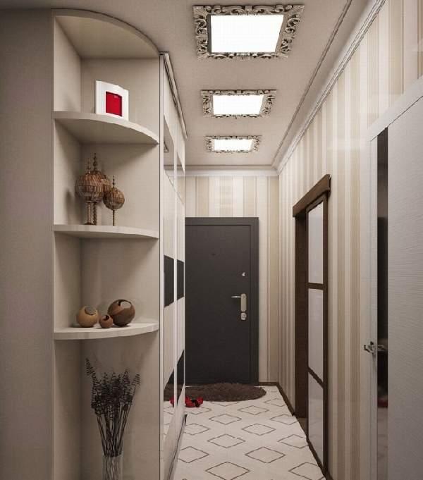 прихожая для узкого коридора дизайн фото, фото 7