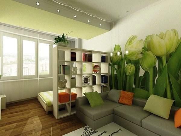 дизайн интерьера маленькой однокомнатной квартиры, фото 17