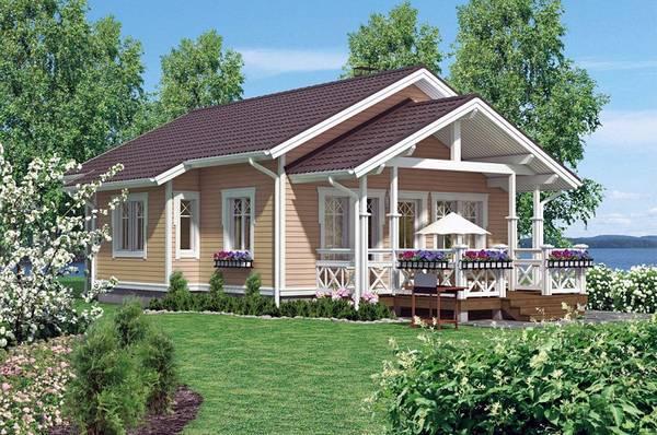 красивые одноэтажные каркасные дома, фото 18