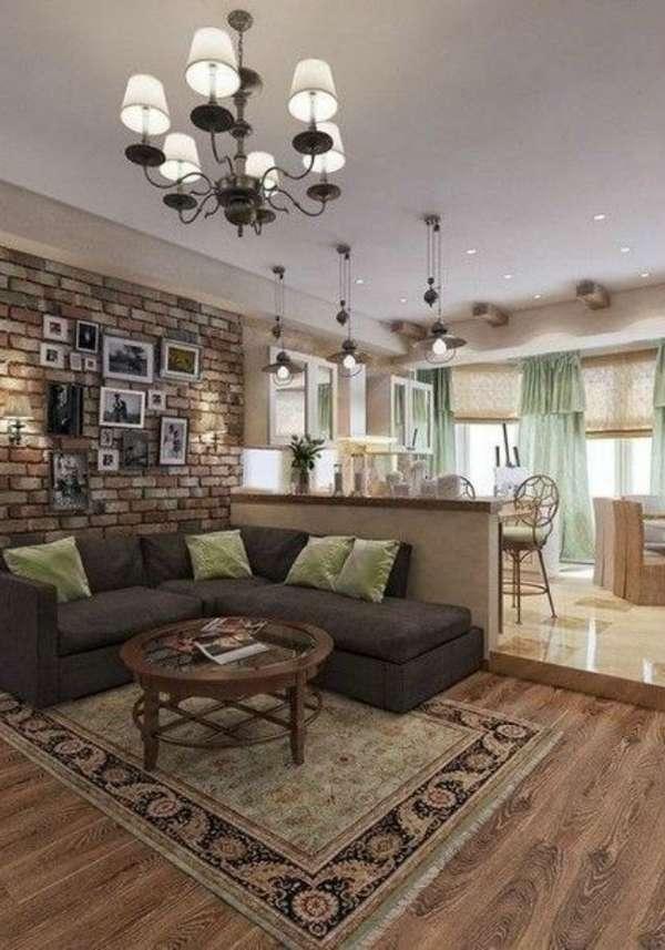 дизайн кухни гостиной в частном доме, фото 19