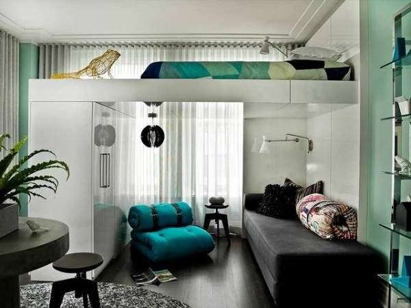 маленькая однокомнатная квартира дизайн интерьера, фото 35