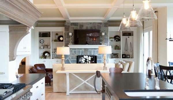 дизайн кухни гостиной в классическом стиле, фото 20