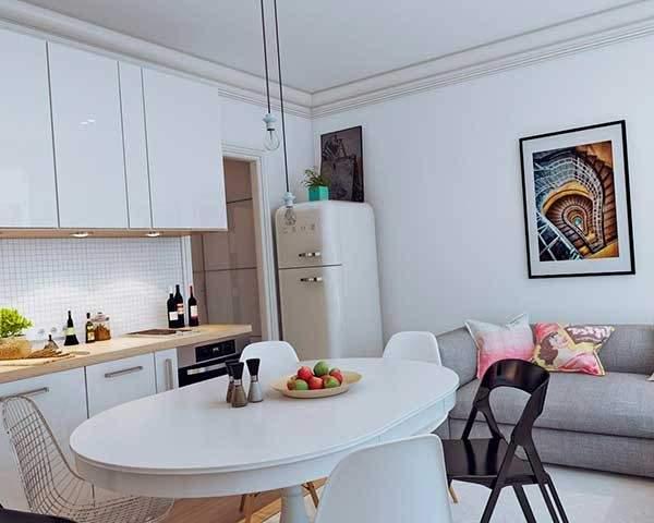 дизайн однокомнатной небольшой квартиры, фото 36