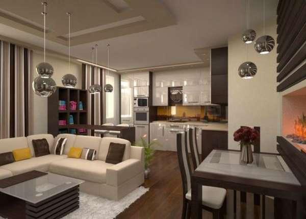 дизайн кухни гостиной в современном стиле фото, фото 21